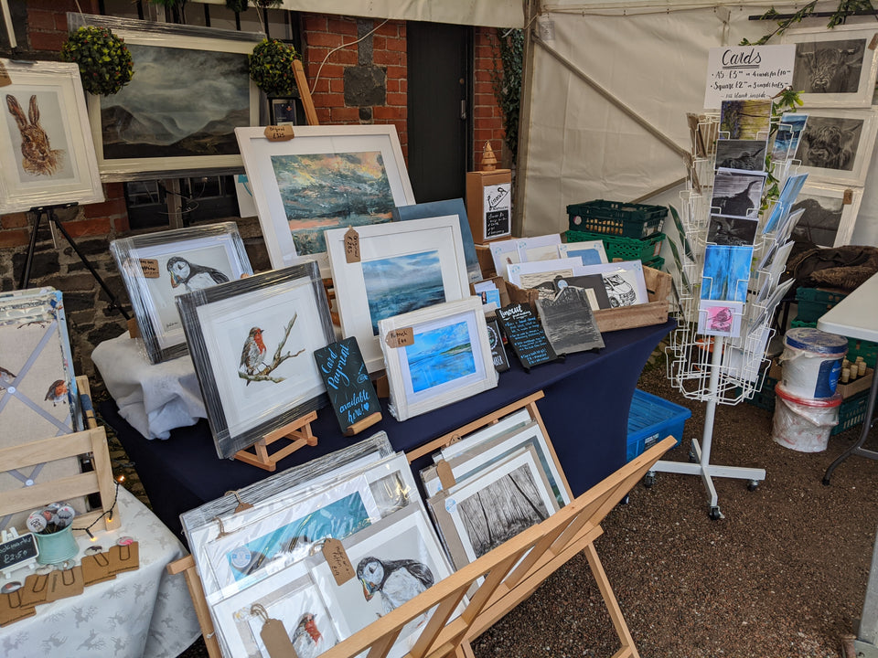 Jenni Robinson Art page for craft markets, art fairs and studio open days.  2021 events calendar.  Book a workshop or demonstration.
