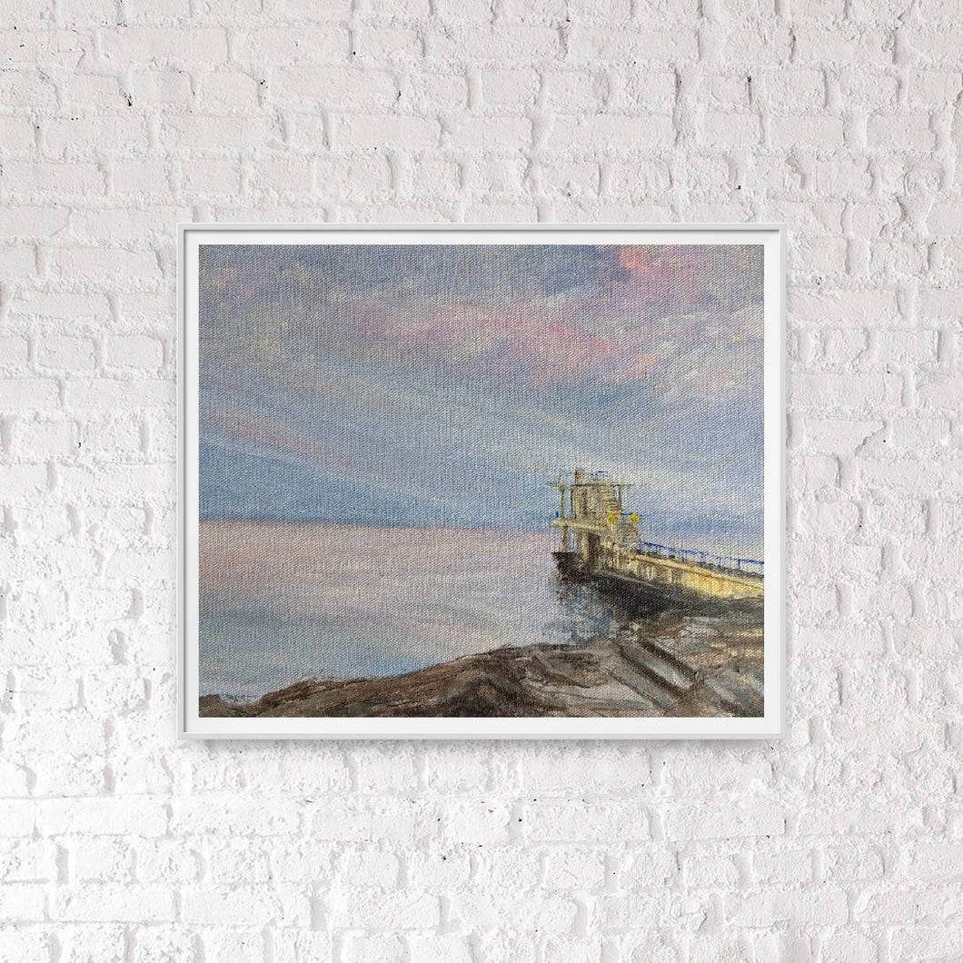 Salthill Diving Board - Giclee Print