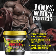 Load image into Gallery viewer, Muscle Protein in Bucket - 100% Whey   12 LB