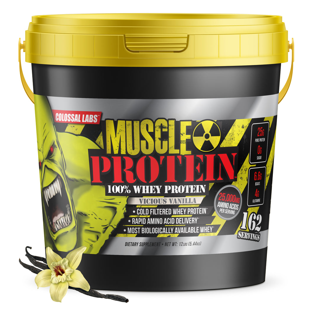 Muscle Protein in Bucket - 100% Whey   12 LB