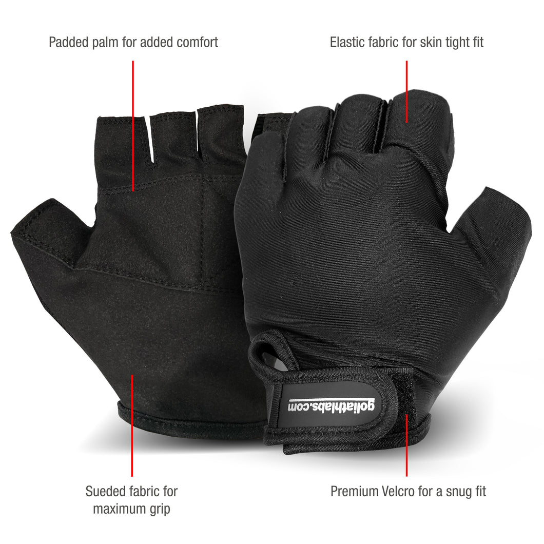 Workout Fitness Gloves - Black