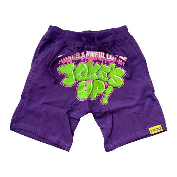 Joke's Up Shorts Purple