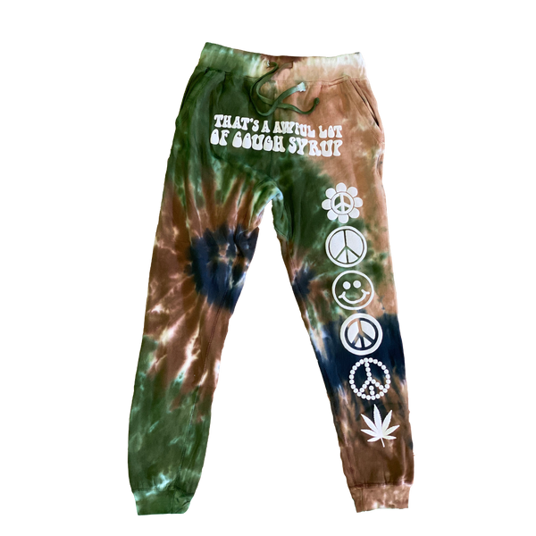 Cough Syrup Tie Die Sweatpants