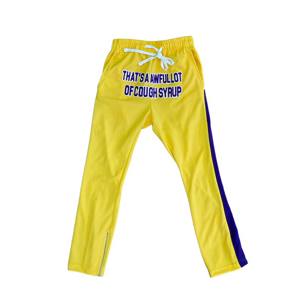 Cough Syrup Yellow Track Pants