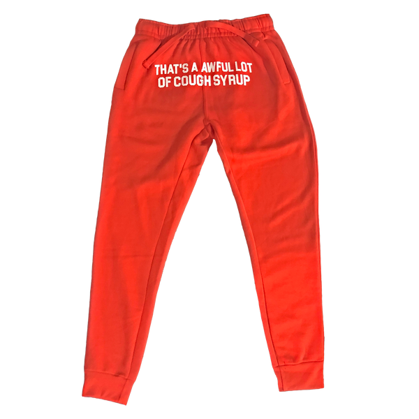 Cough Syrup Sweatpants - Orange