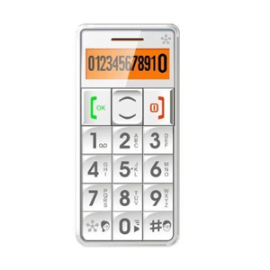 JUST5 J509 Easy to Use Unlocked Cell Phone with Big Buttons, Amplified Sound, Personal Emergency Response System (White)