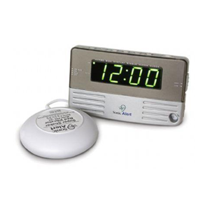 Sonic Alert Travel Sized / Bed Side Clock with Bed Shaker