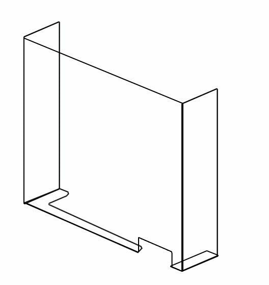 PPE Screens - acrylic - self standing Style E