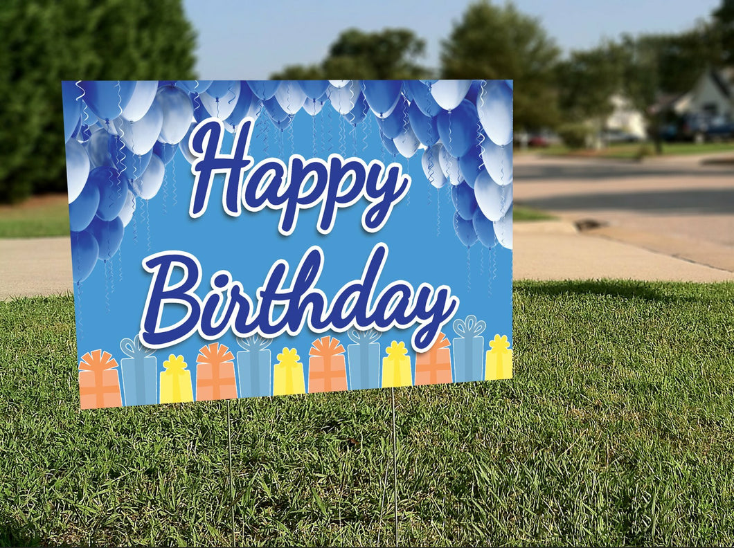 Birthday Lawn Signs
