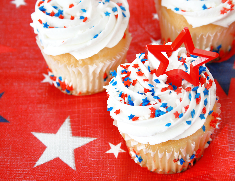 Labor Day party cupcakes