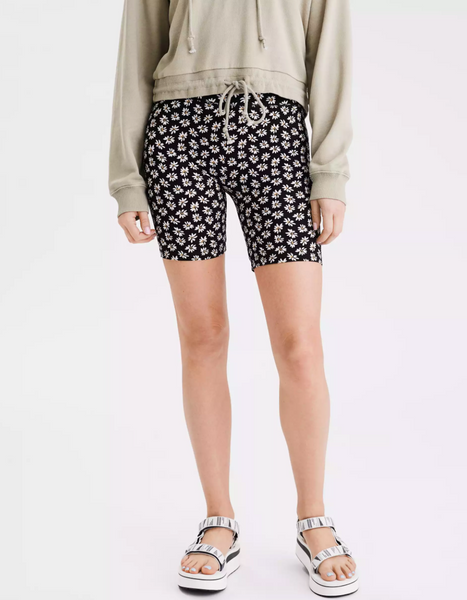 daisy print bike shorts