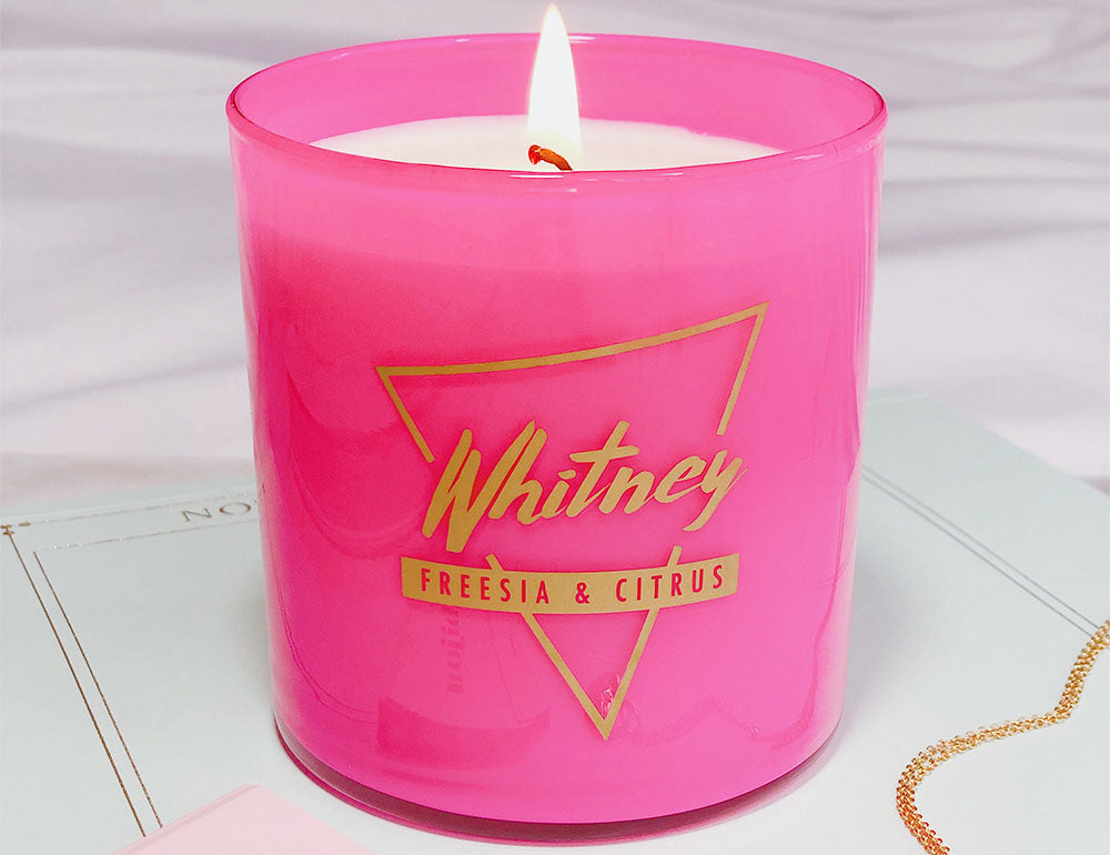 Whitney Freesia and citrus candle