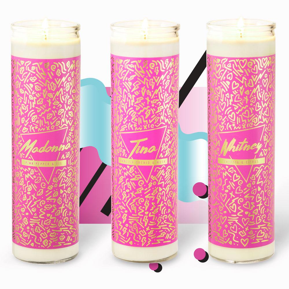 Tall Votive Candles - 80s Icons
