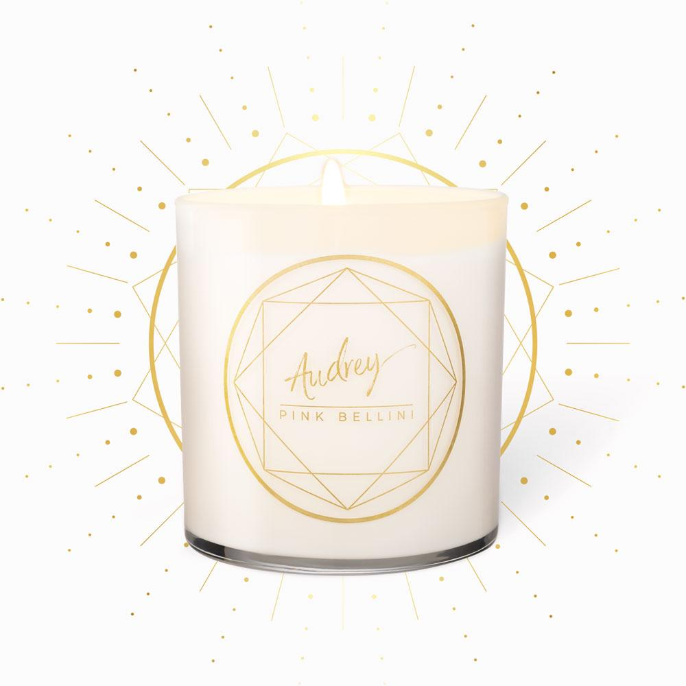 Classic Candles - Audrey · Pink Bellini
