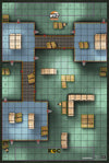 "Warehouse 75 Indoor - ROC/HeroClix Mat Square Corners - 36"" x 24"" x 1/16"""
