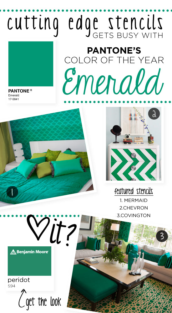 Stenciling-with-Emerald-Painting-Ideas