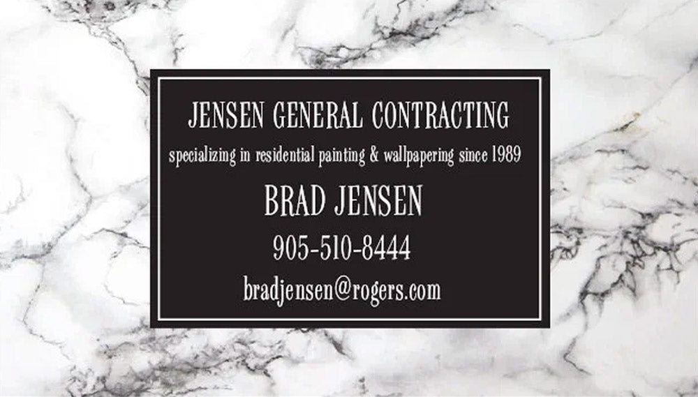 Jensen General Contracting - specializing in residential painting & wallpapering since 1989 - Brad Jensen - 905-510-8444 - bradjensen@rogers.com