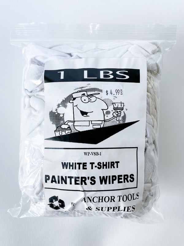 White T-Shirt Painter's Wipers