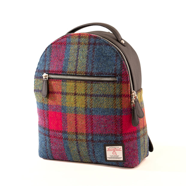 Harris Tweed Backpack Blue/Pink