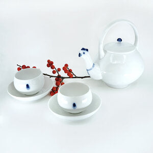 Hen Teapot and Two Cups Set