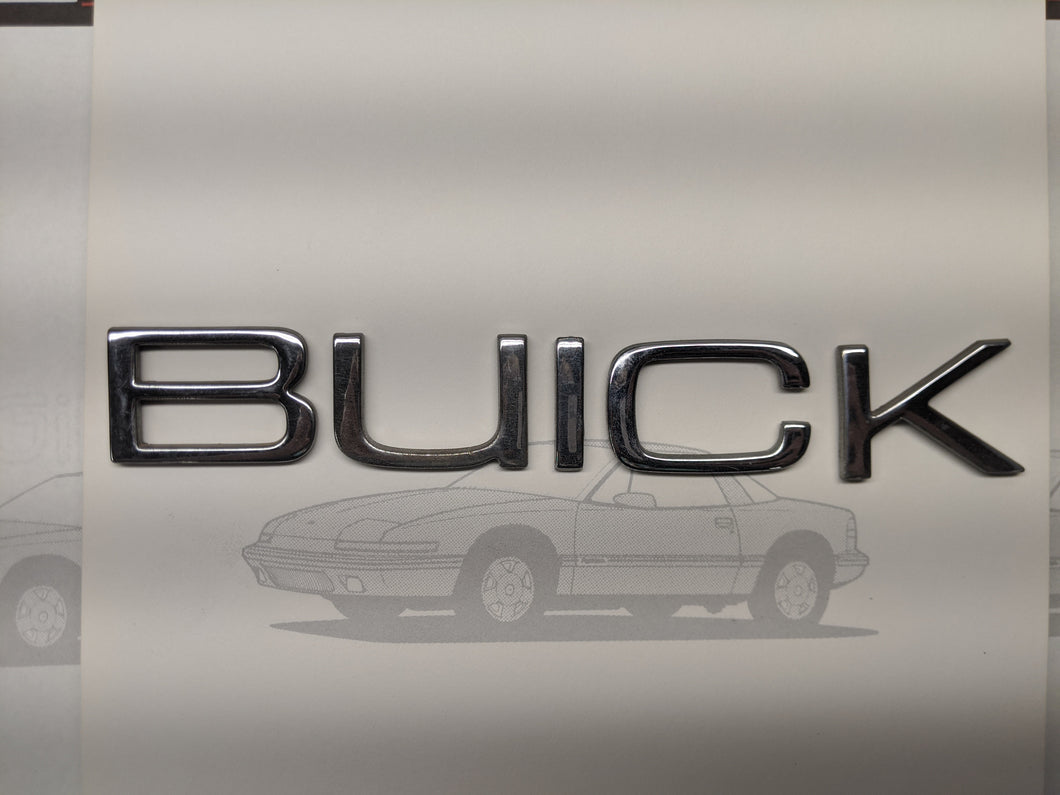 BUICK Tail Light Letters