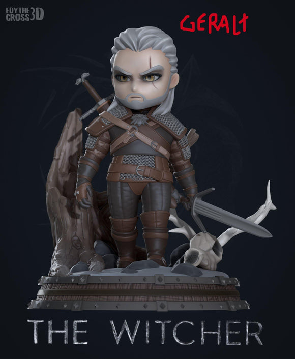 Geralt - The Witcher Chibi