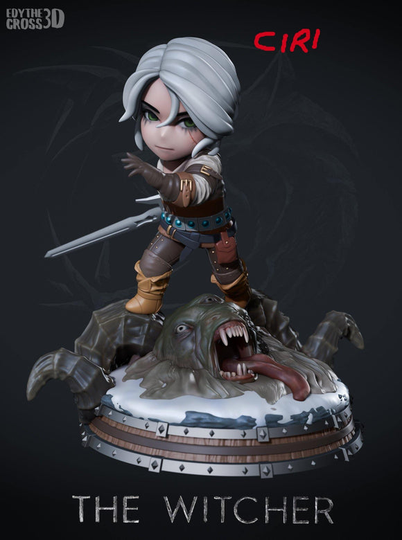 Ciri - The Witcher Chibi