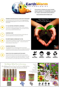 TeaDrops® + EarthPods® Organic Flower Fertilizer & Natural Plant Food Products Grow Amazing Plants