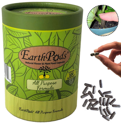 EarthPods® Organic Flower Fertilizer & Natural Plant Food Capsules Open Container
