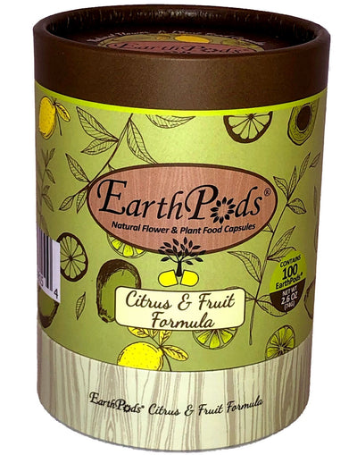 EarthPods® CITRUS & FRUIT Organic Plant Food Spikes (100 Fertilizer Capsules)