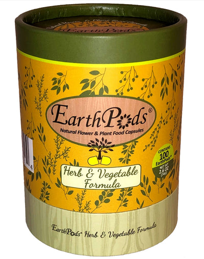 EarthPods® Herb & Vegetable Organic Plant Food Spikes (100 Fertilizer Capsules)