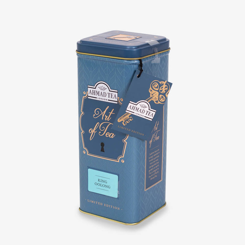 6 Packs of 100g Loose Tea Caddy from Art of Tea Collection - Side angle of caddy with label