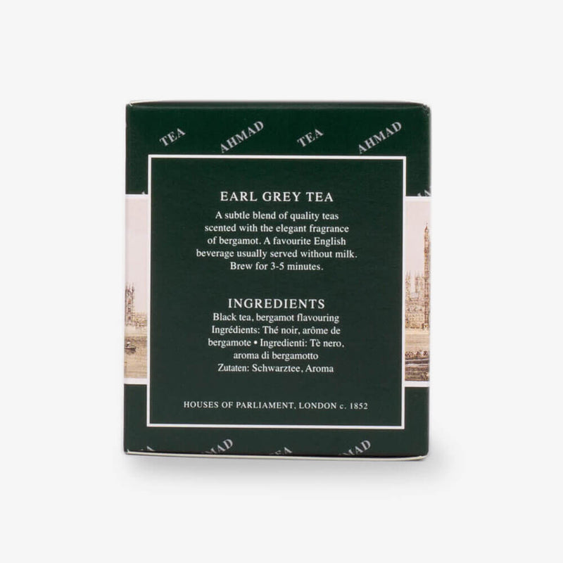 English Tea Selection of 3 Black Tea - Earl Grey from side