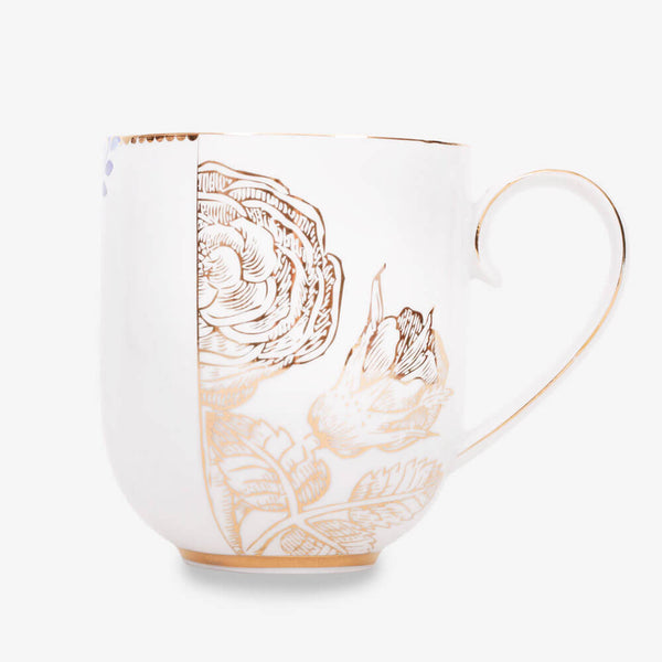 Pip Studio Royal White Collection Mug - Front of mug
