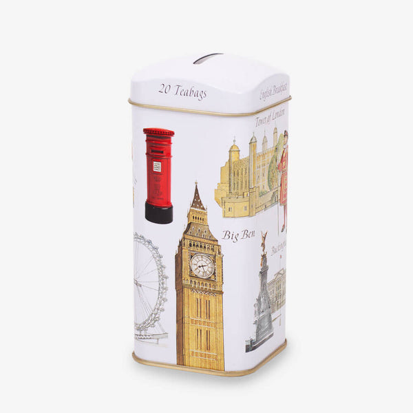 London Icons Money Box Caddy - Side angle of caddy