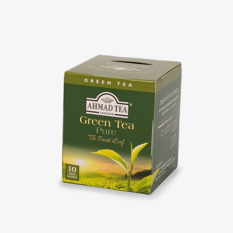 Tea Chest Four Caddy - Side angle of Green Tea Pure box