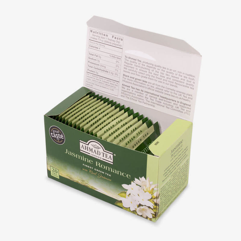 6 Packs of 20 Teabags - Open box on side