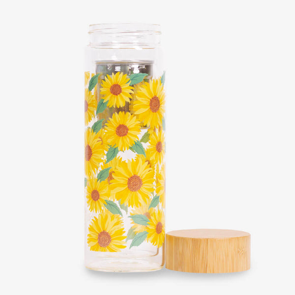 Sass & Belle Sunflowers Water Bottle - Bottle and lid
