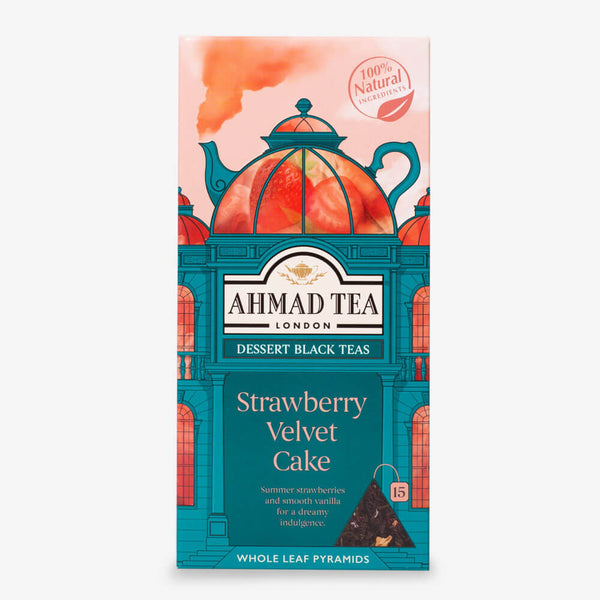 Strawberry Velvet Cake Dessert Tea - 15 Pyramid Teabags