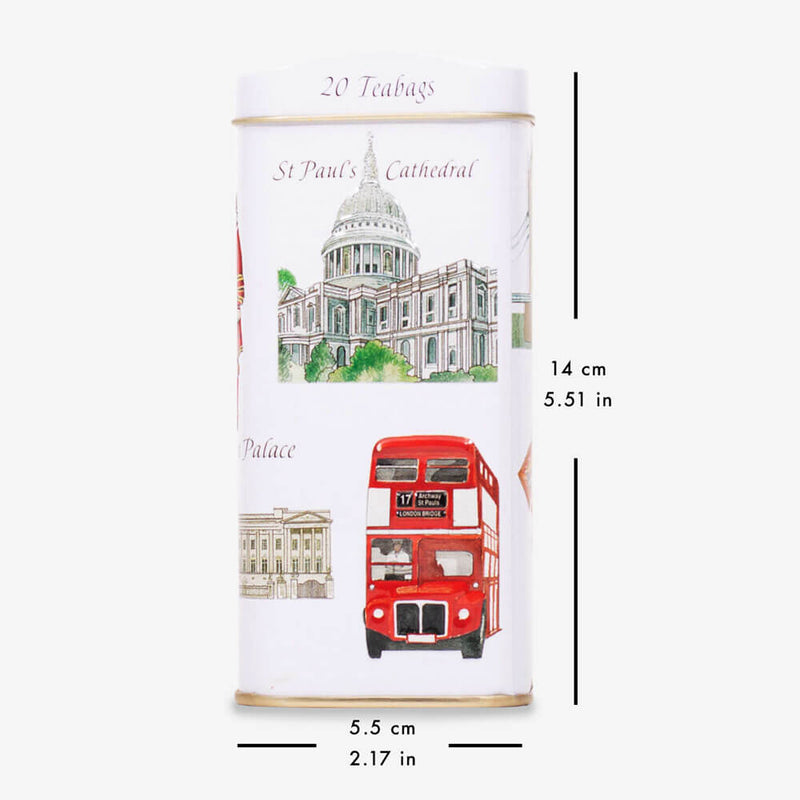 London Icons Money Box Caddy - Caddy with dimensions