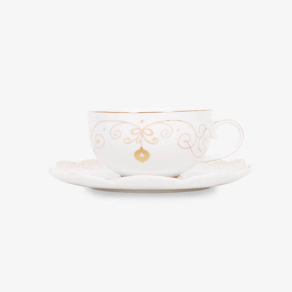 Pip Studio Royal Christmas Collection Teacup & Saucer - Front of teacup & saucer