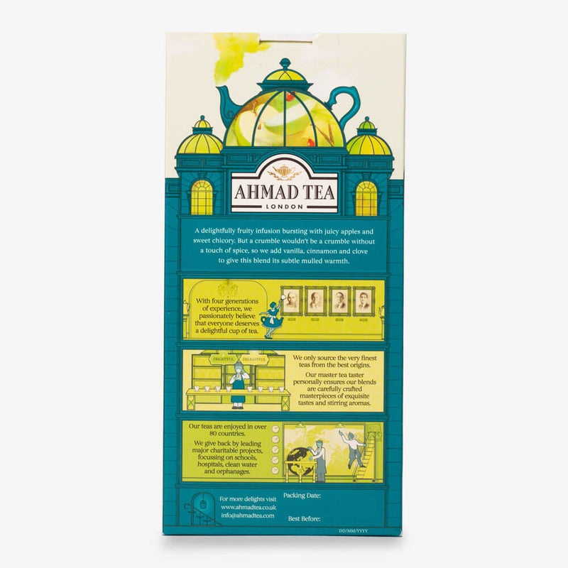 5 Packs of 15 Pyramid Teabags - Back of box