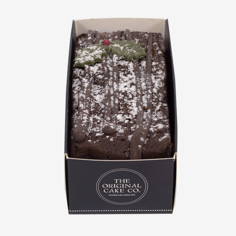 The Original Cake Company Christmas Chocolate Yule Log - Cake from top