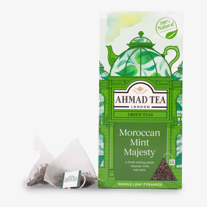15 Pyramid Teabags - Box and pyramid teabag