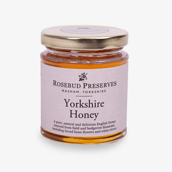 Rosebud Preserves Yorkshire Honey - Front of jar