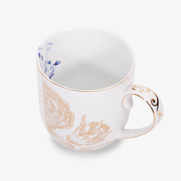 Pip Studio Royal White Collection Mug - Side angle of mug