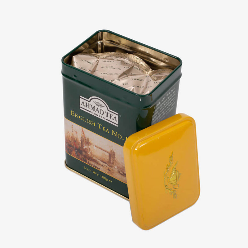 6 Packs of 100g Loose Tea Caddy from English Scene Collection - Open caddy