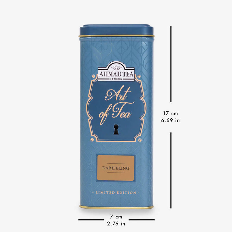 100g Loose Tea Caddy from Art of Tea Collection - Caddy with dimensions