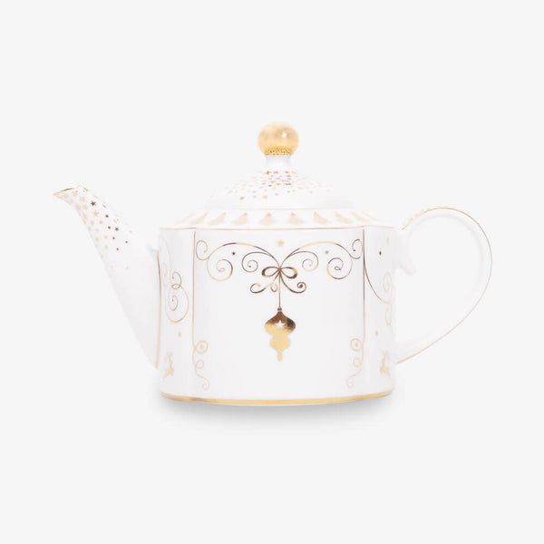 Pip Studio Royal Christmas Collection Teapot - Front of teapot