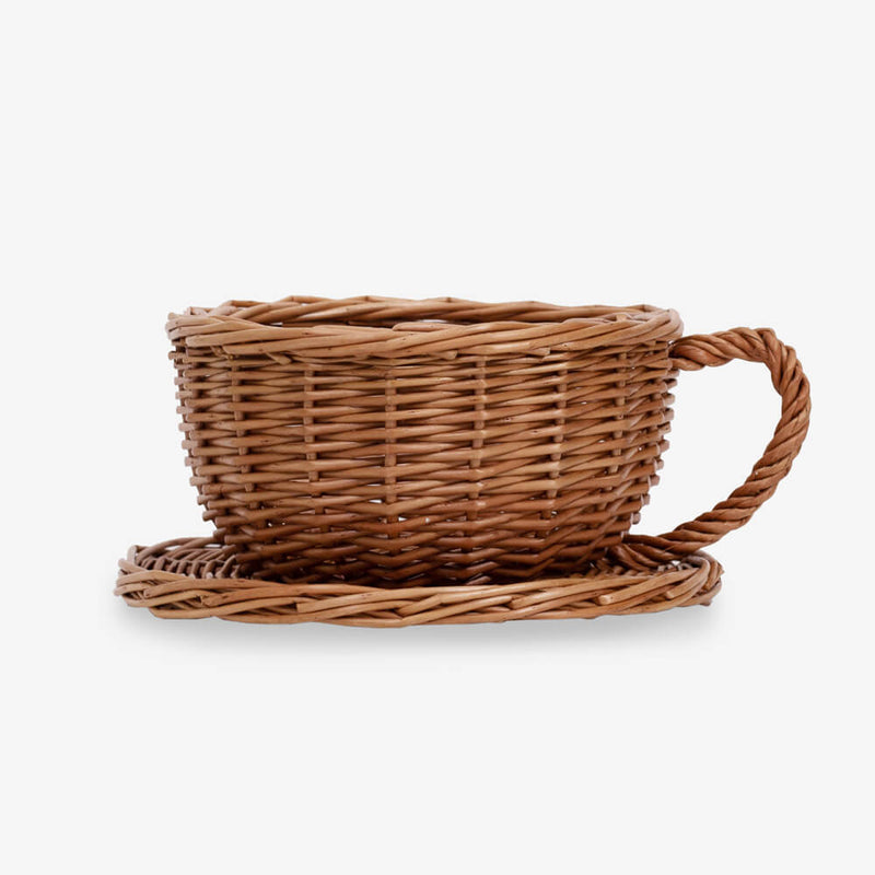 Wicker Teacup & Saucer Basket (Small)